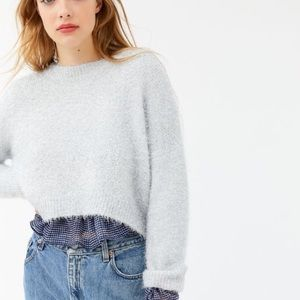 UO Metallic Knit Cropped Sweater